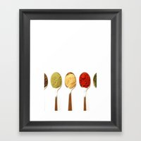 COLORS IN THE SPOON Framed Art Print