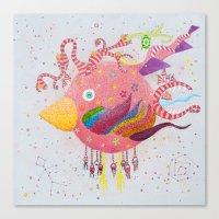 the bird-world Canvas Print