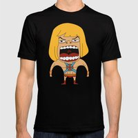 Screaming He-Man Mens Fitted Tee Black SMALL