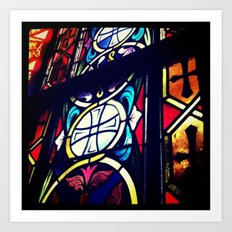 Stained Glass 2 Art Print