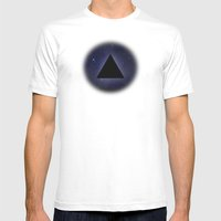 Wayfaring Triangle Mens Fitted Tee White SMALL