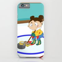 iPhone & iPod Case featuring Winter Sports: Curling by Alapapaju