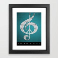 Music & Peace Aqua Sheets Framed Art Print
