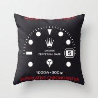 Submariner Chronometer Swiss Watches Throw Pillow