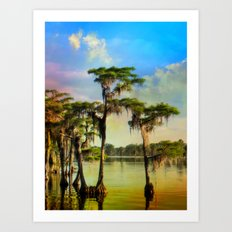 Cypress Lake 1 Art Print