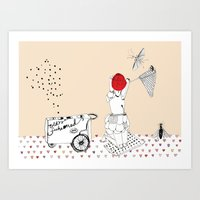 Catch More Flies With Ho… Art Print