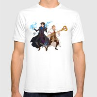 Sherlock and John Mens Fitted Tee White SMALL