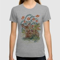 In The Grass Womens Fitted Tee Athletic Grey SMALL