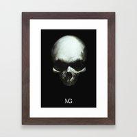 Dark Skull Framed Art Print