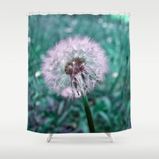DANDELION - puffball Shower Curtain