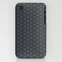 iPhone 3Gs & iPhone 3G Cases featuring hex pattern 1 by grapedivine