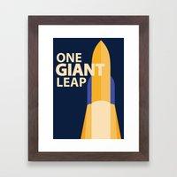 One Giant Leap Framed Art Print