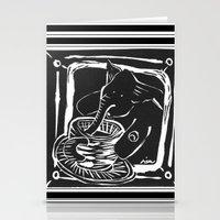 elefante col caffe' Stationery Cards