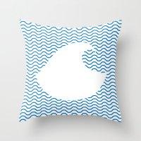 Wavy Wave Throw Pillow