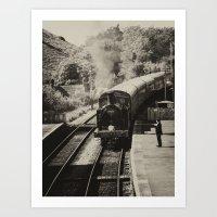 Sepia steam train  Art Print
