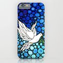 Peaceful Journey - Vibrant white dove by Labor Of Love artist Sharon Cummings. iPhone & iPod Case