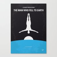 No208 My The Man Who Fell to Earth minimal movie poster Canvas Print