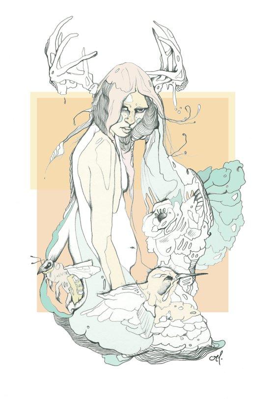 huni bee Art Print