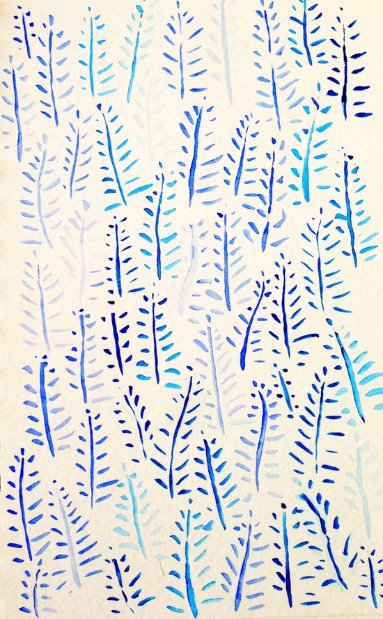 Blue Fern Art Print