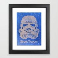 BEAST Street Trooper Head (Black on Cardboard) Framed Art Print