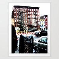 Outside Katz's Deli, NYC Art Print