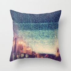 Starry Night. downtown Los Angeles at night photograph Throw Pillow