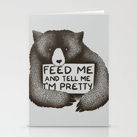 Feed Me And Tell Me I'm … Stationery Cards