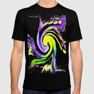 Night Surfing Mens Fitted Tee Black SMALL