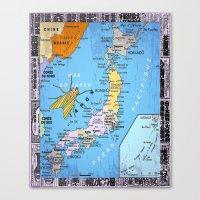 Mer Du Japon 2 Canvas Print