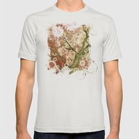 Majestic Tree Mens Fitted Tee Silver SMALL