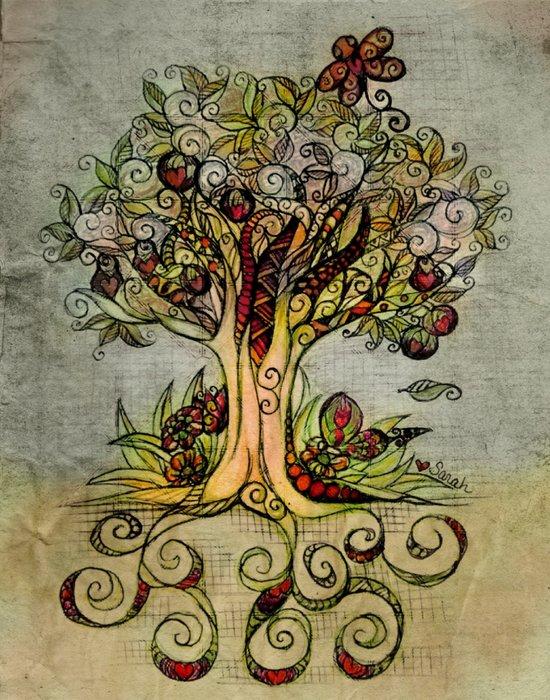 Fall Tree Bloom Art Print