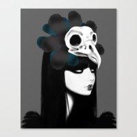 dark bird (lady bird) Canvas Print
