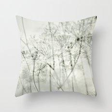 botanical abstract Throw Pillow