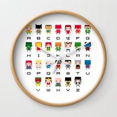 Superhero Alphabet Wall Clock