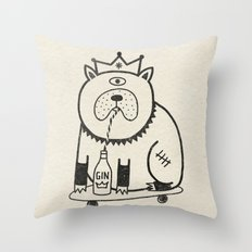 My Dog Loves Gin No.2 Throw Pillow
