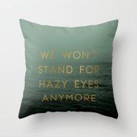 Hazy Eyes Throw Pillow