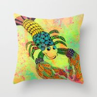 Zentangle Lobster Throw Pillow