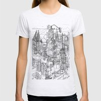 San Francisco! (B&W) Womens Fitted Tee Ash Grey SMALL