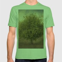 Whimsical Tree Mens Fitted Tee Grass SMALL