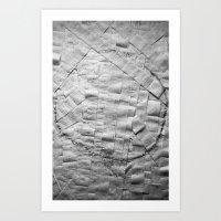 Smile on toilet paper Art Print