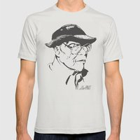 Old Swagger Mens Fitted Tee Silver SMALL