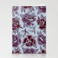 Dozen Roses - Purple Stationery Cards