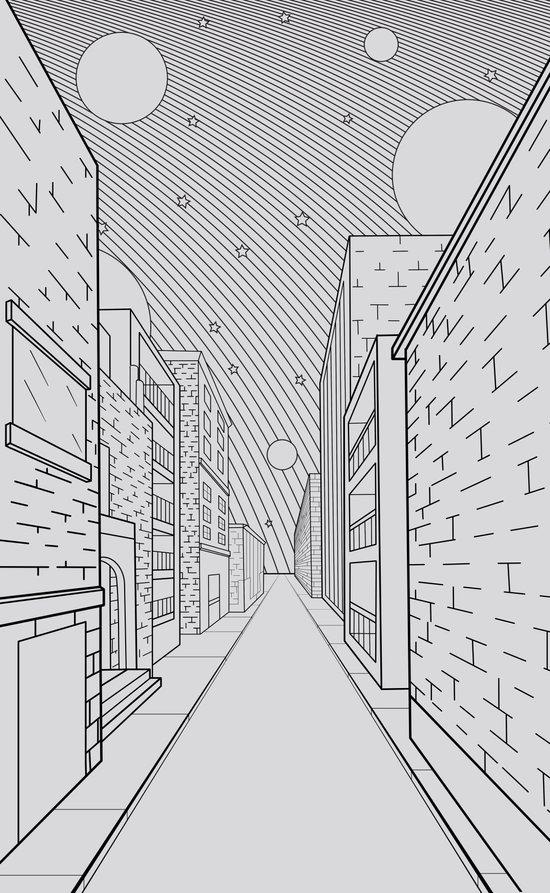 Cosmos City Canvas Print