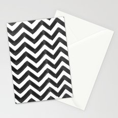 THE BLACK TIE: PAINTED CHEVRON Stationery Cards