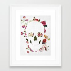 Skull Grunge Flower 2 Framed Art Print