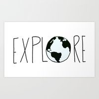 Explore the Globe Art Print