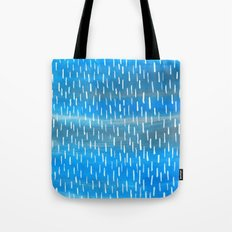 Blue Rain Tote Bag