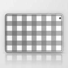 Gingham (Gray/White) Laptop & iPad Skin