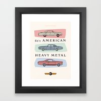 Motor Style Inc.: 60s American Heavy Metal Framed Art Print