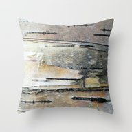 Paper Birch Throw Pillow
